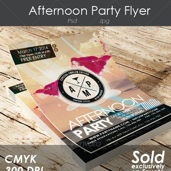 Afternoon Party Flyer