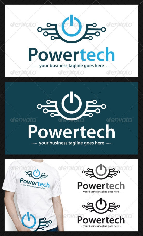 Power Tech Logo Template - Symbols Logo Templates