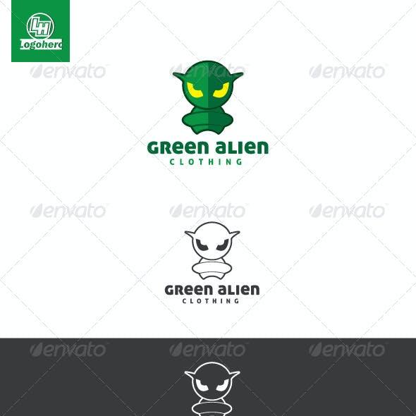 Green Alien Logo Template