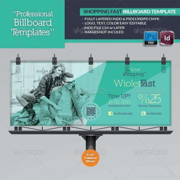 Shopping Fast Billboard Template