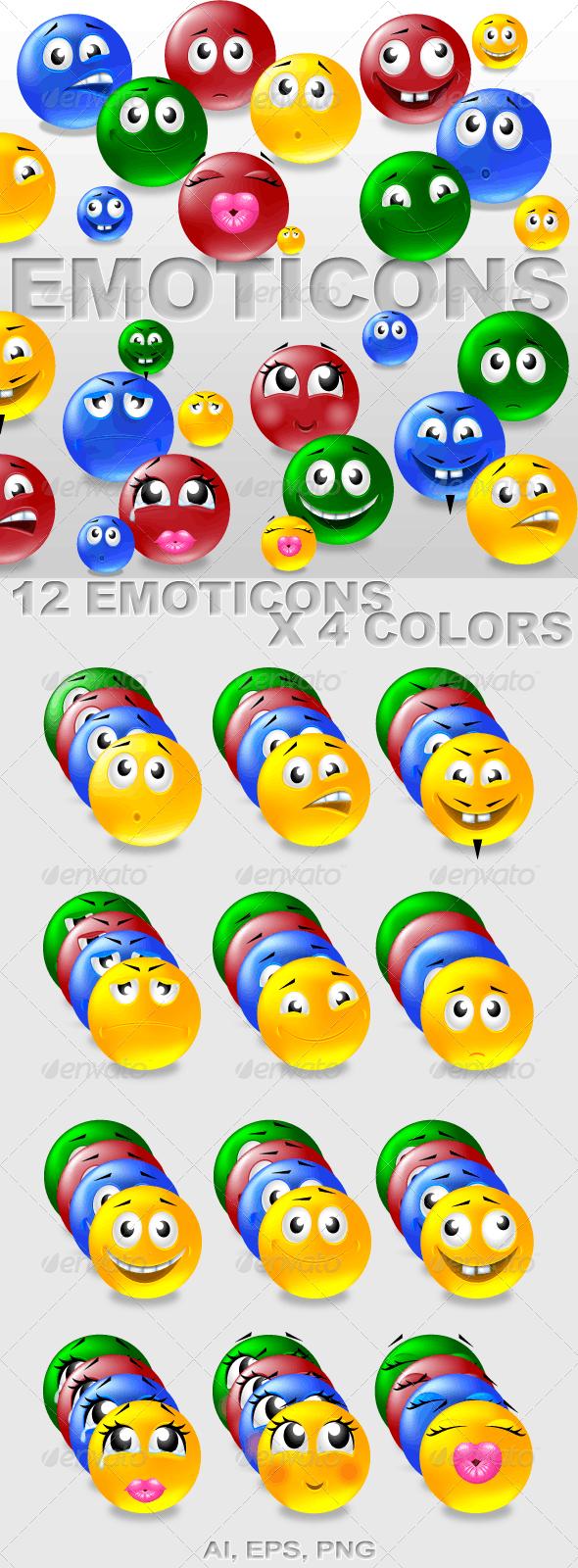 Emoticons - Characters Vectors