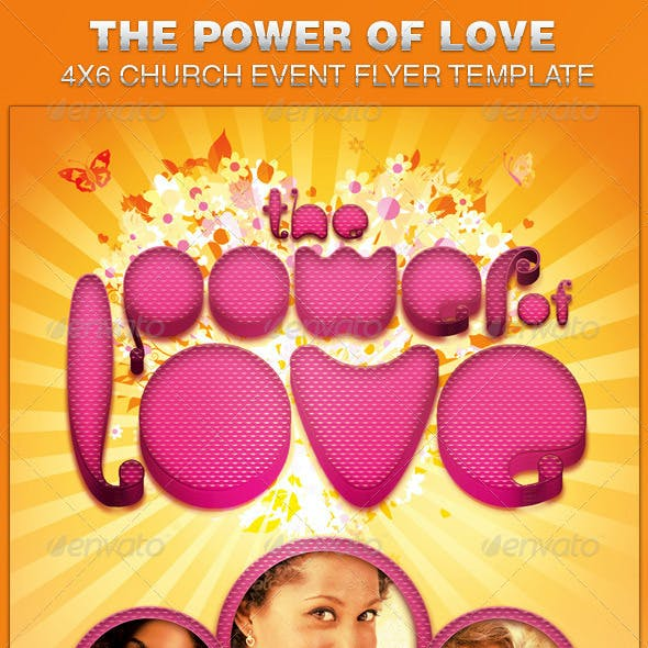 Power of Love Church Flyer Template