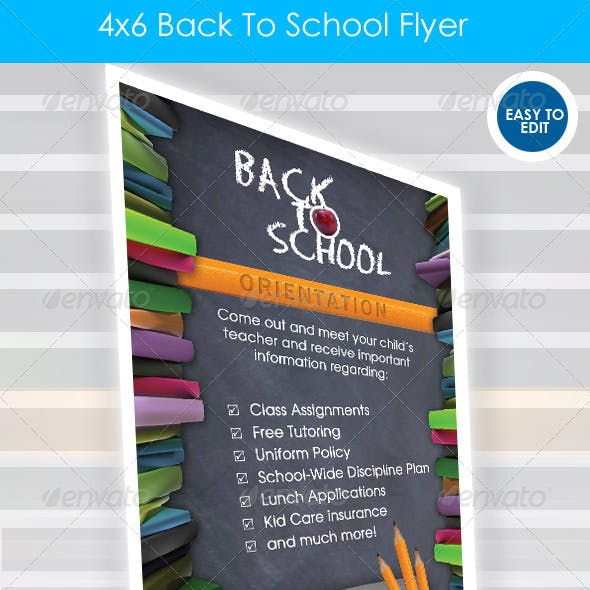 Back 2 School 4x6 Orientation Flyer