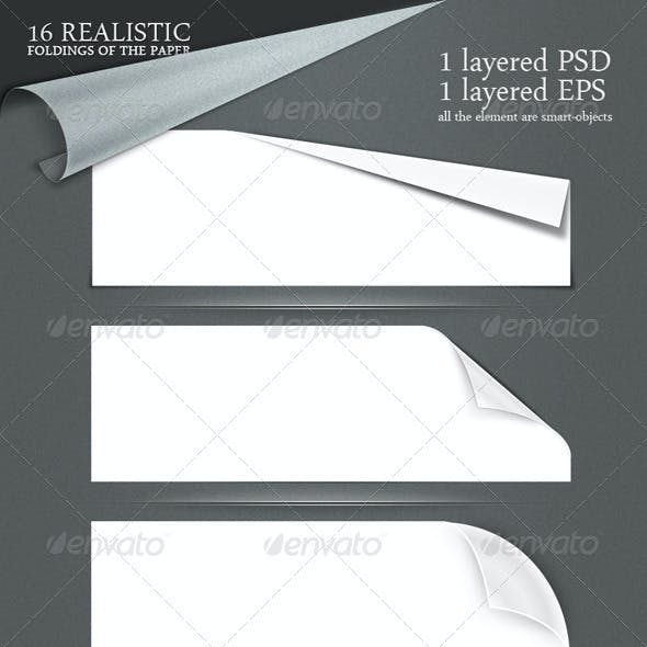 16 realistic folding of the paper PSD + EPS