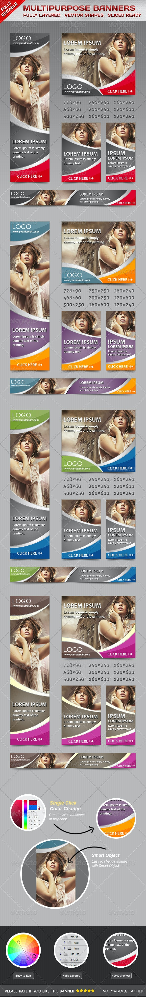 Multiporpose Glamorous Banners - Banners & Ads Web Elements