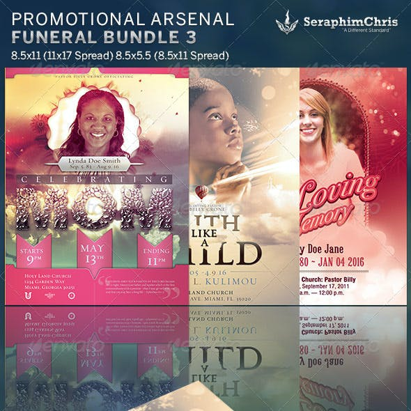 Promotional Arsenal Funeral Program Bundle 3