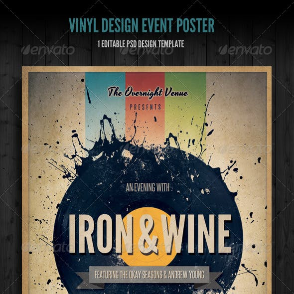 Vinyl Event Flyer / Poster Template