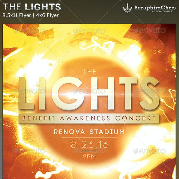 The Lights: Benefit Concert Flyer Template