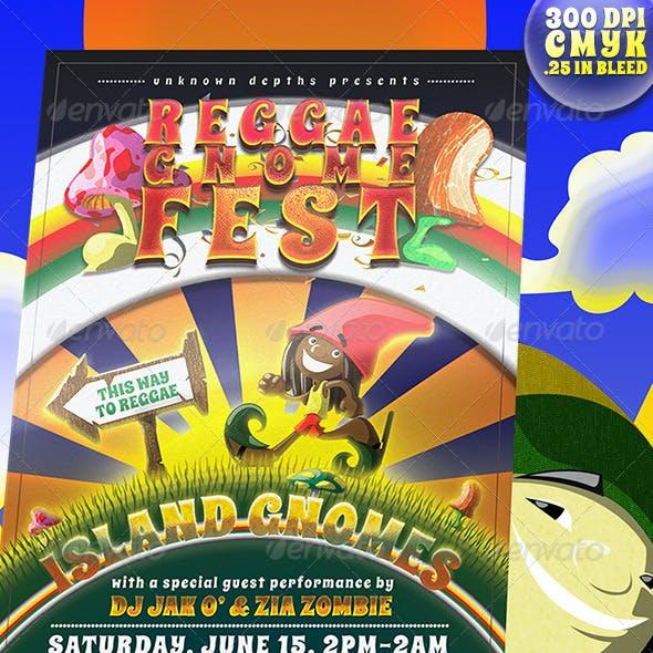 Reggae Gnome Fest - Print Flyer Template