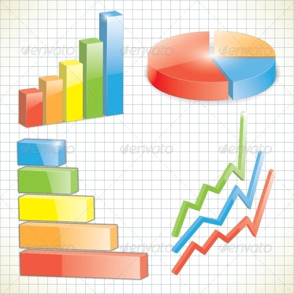 Set of Business Charts