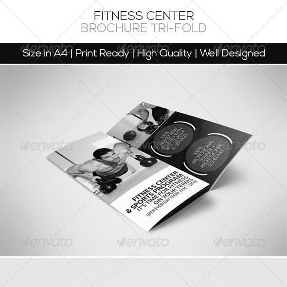 Fitness Center Brochure Tri-fold