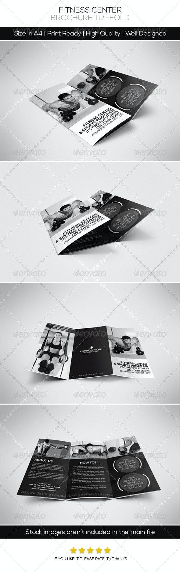 Fitness Center Brochure Tri-fold - Brochures Print Templates