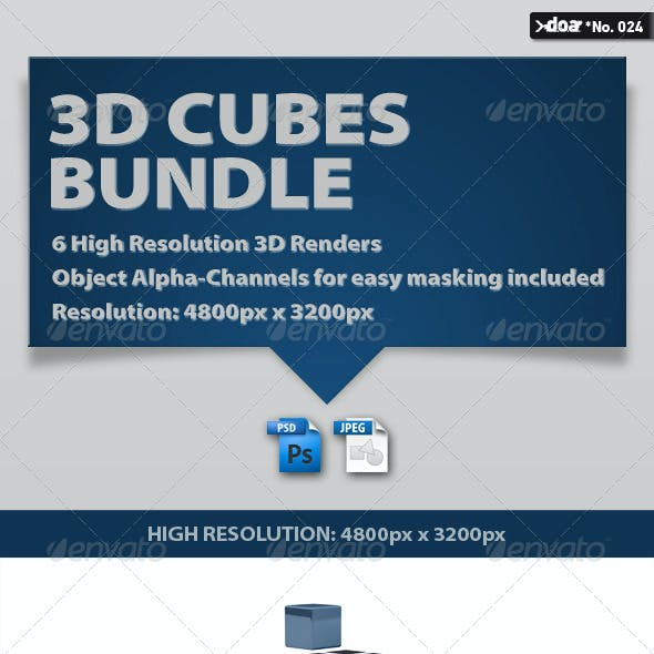 3D Cubes Bundle