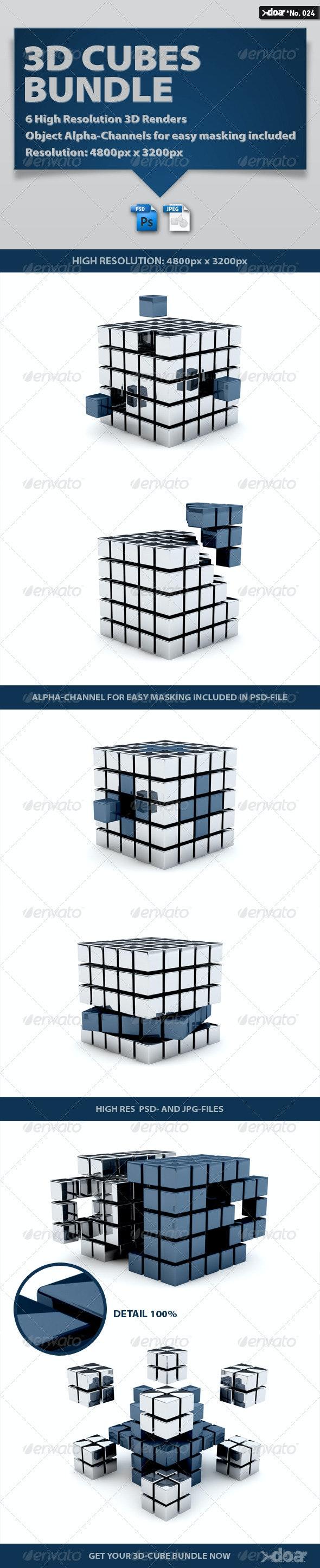 3D Cubes Bundle - 3D Renders Graphics