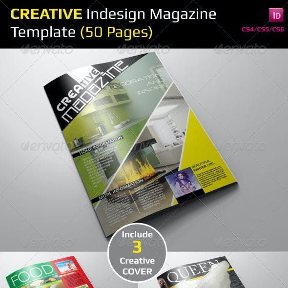 Creative Indesign Magazine Template (50 Pages)
