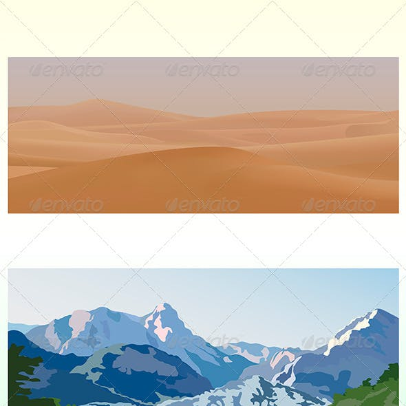 Mountain and Desert Landscapes