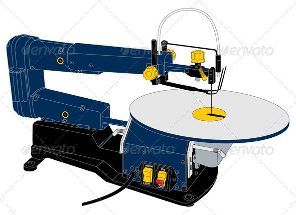 2 Speed Scroll Saw - Objects Vectors