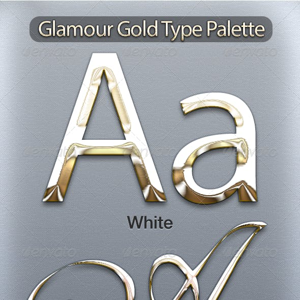 Glamour Gold Type Palette
