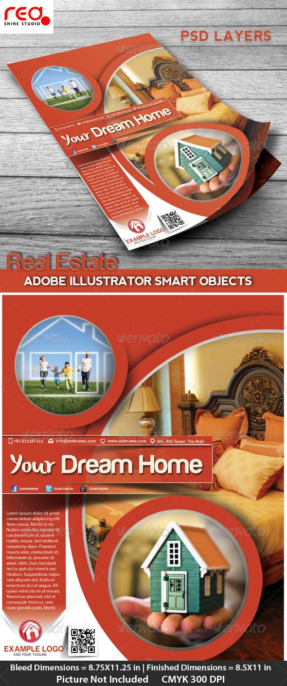 Real Estate Flyer, Poster & Magzine Cover Design - Corporate Flyers