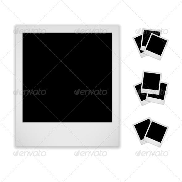 Blank Photo Frame. Polaroid Style.