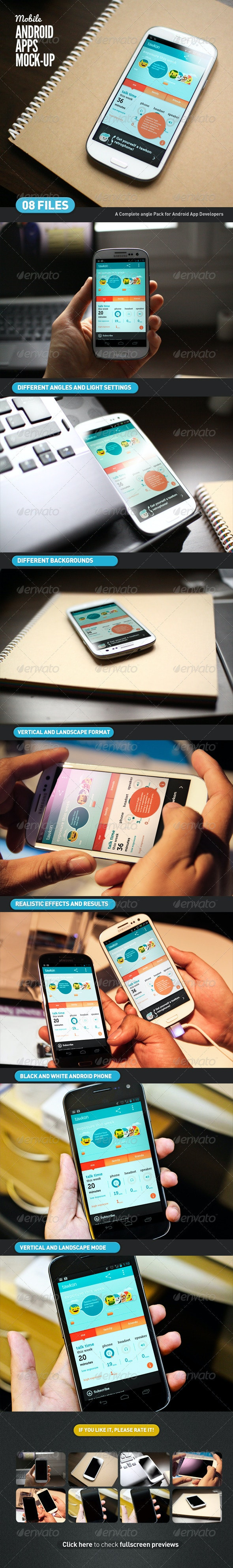 Mobile App | Android App Mock-Up - Mobile Displays
