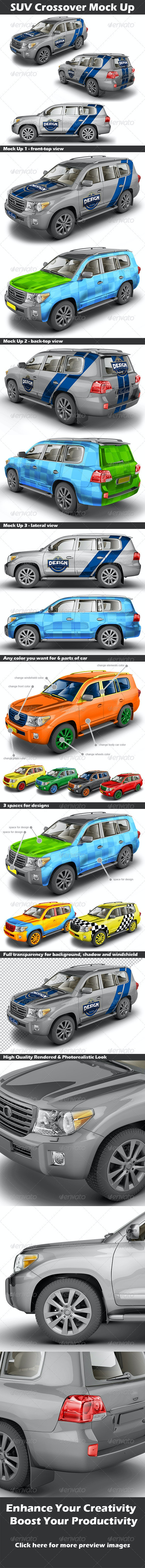 SUV Crossover Mock Up - Vehicle Wraps Print