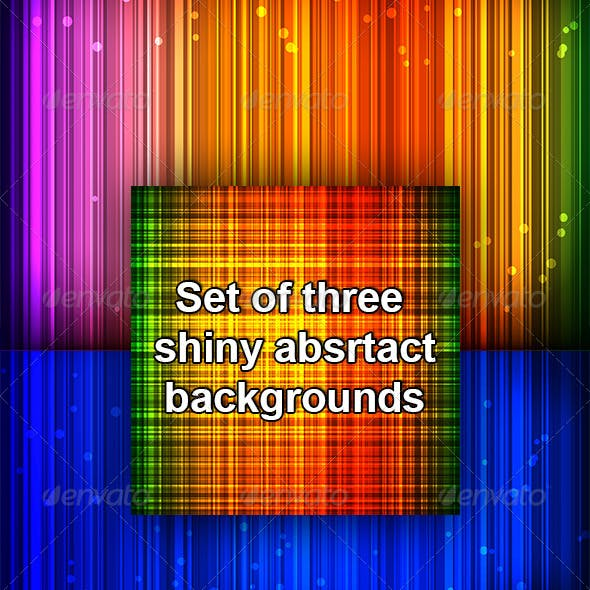 Set Of Shiny Abstract Colorful Backgrounds