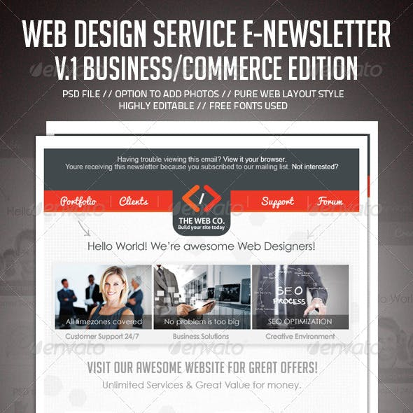 Mail Chimp Graphics, Designs & Template from GraphicRiver