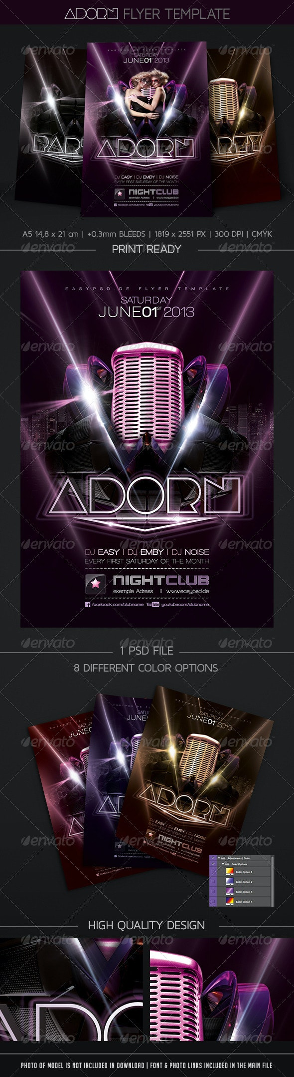 Adorn Flyer Template - Clubs & Parties Events