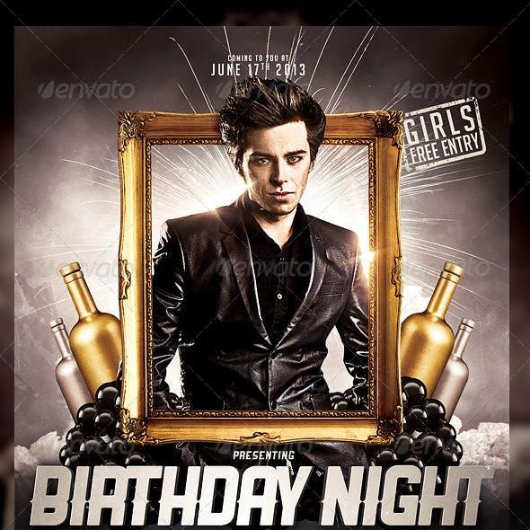 Birthday Night Flyer Template