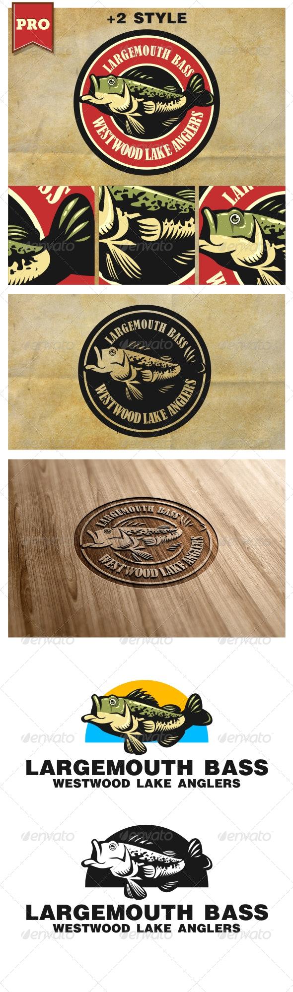 Largemouth Bass Fishing Logo - Animals Logo Templates