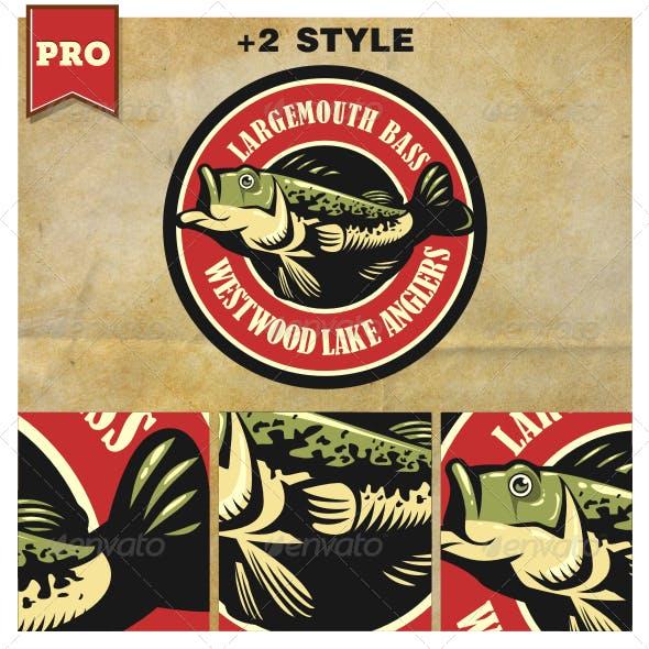 Largemouth Bass Fishing Logo