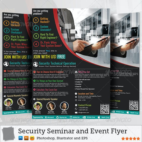 Security Seminar and Event Flyer