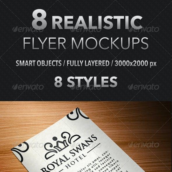 8 Realistic Flyer Mockups