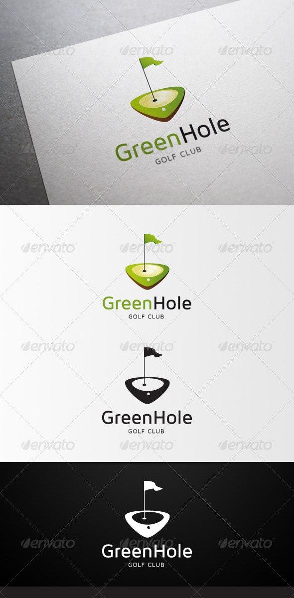 GreenHole Golf Club Logo - Abstract Logo Templates