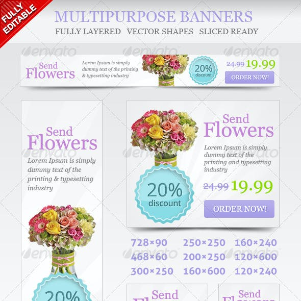 Multipurpose Online Shop Banners