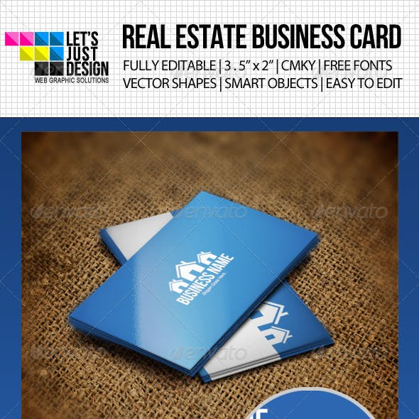 Clean Real Estate Business Card