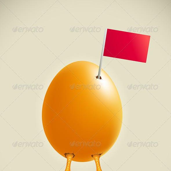 Egg Legs with Flag