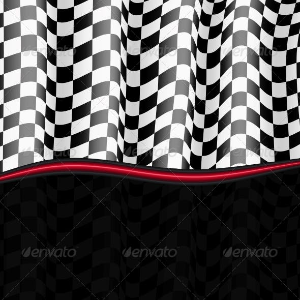Racing Background. Checkered Flag