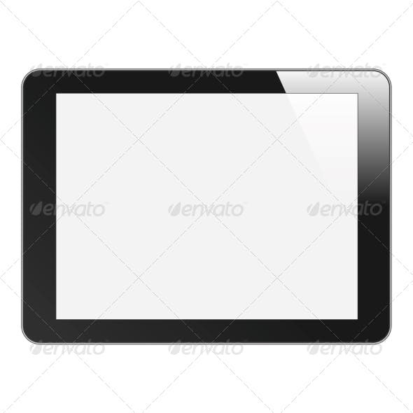 Realistic Tablet PC or Photo Frame