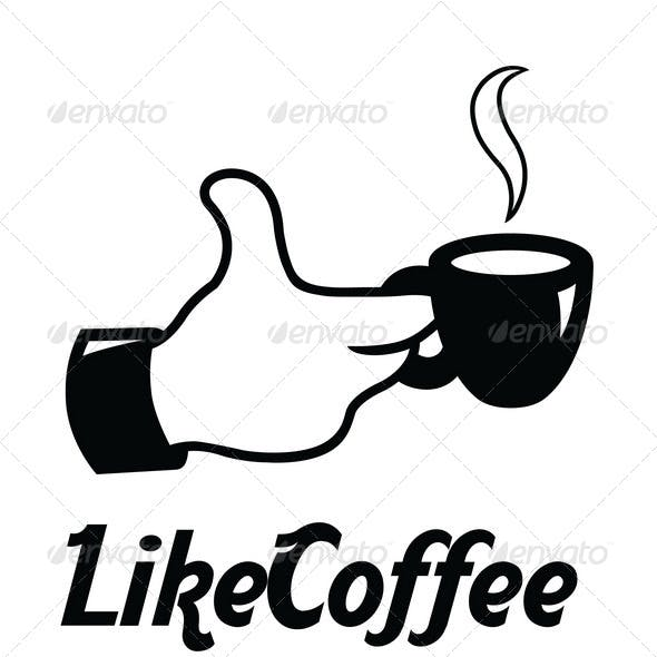 Like Coffee Logo Template