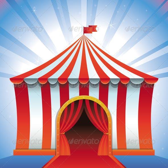 Vector Circus Tent