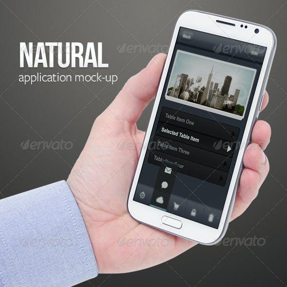 Natural App Mock-Ups