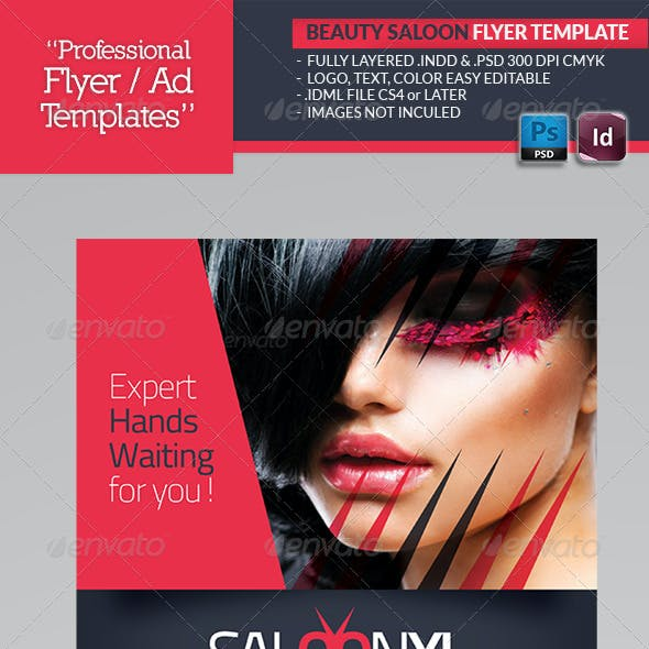 Beauty Saloon Flyer Template