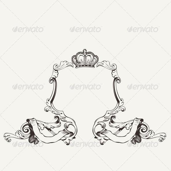 Elegant Royal Frame With Crown