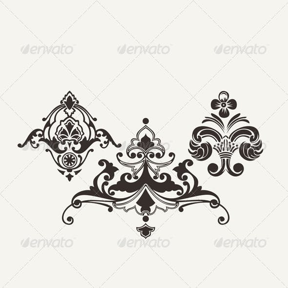 Calligraphic Design Elements for Page Decoration