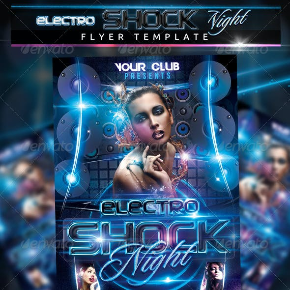 Electro Shock Night Flyer Template