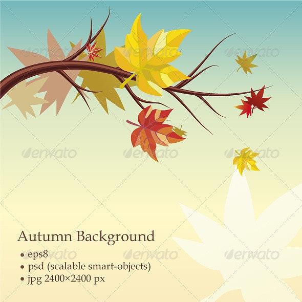 Autumn Background  - Decorative Vectors