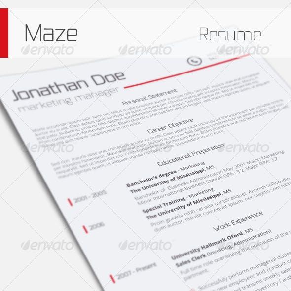 Maze - Resume