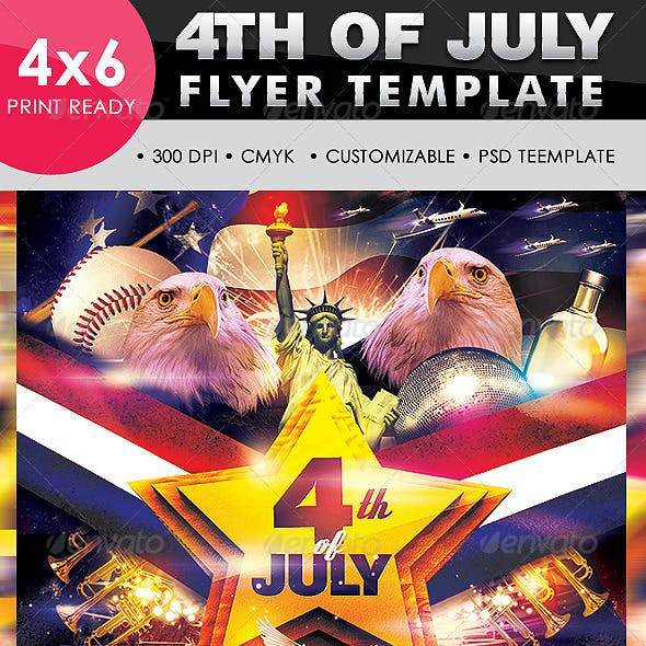 Independence Day / Memorial Day Flyer Template